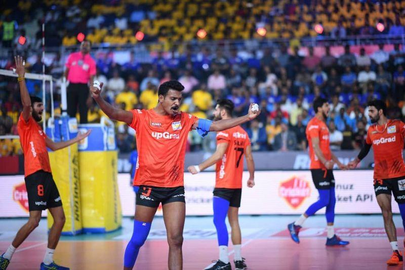 Deepesh Sinha celebrates a point