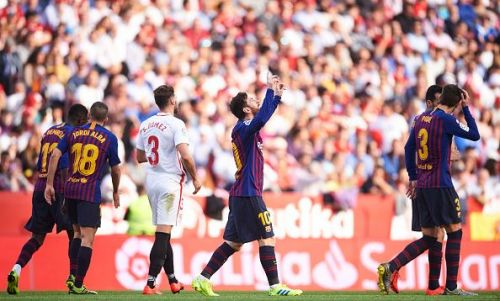 Sevilla FC did not lose to Barcelona, they lost to a man called Lionel Messi