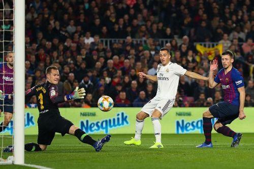 Lucas Vazquez scored a historic goal against Barcelona at the Camp Nou