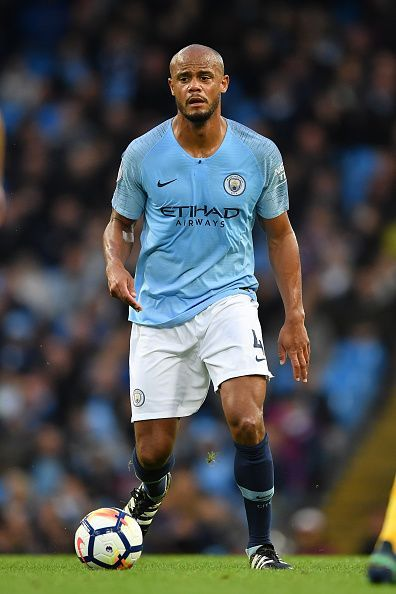 Vincent Kompany plays for the Citizens.