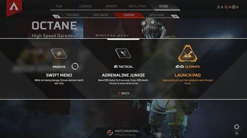 Apex Legends: Octane Skills