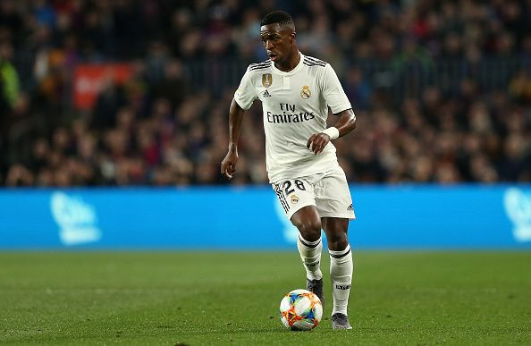 Vinicius was menacing at the left flank