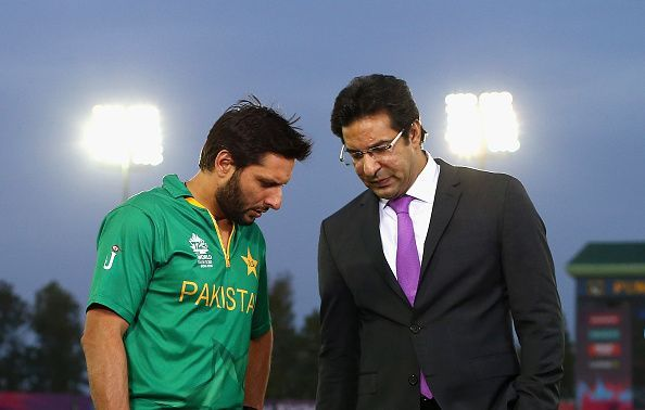 Shahid Afridi and Wasim Akram are among the players whose pictures are in Mohali Stadium