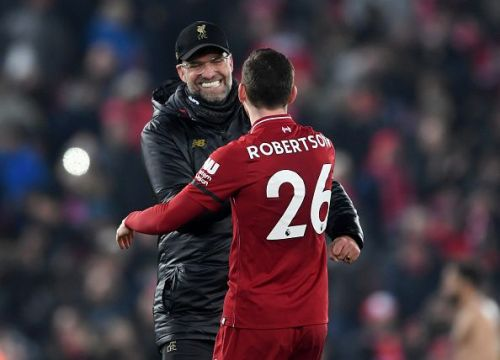 Jurgen Klopp and Robertson