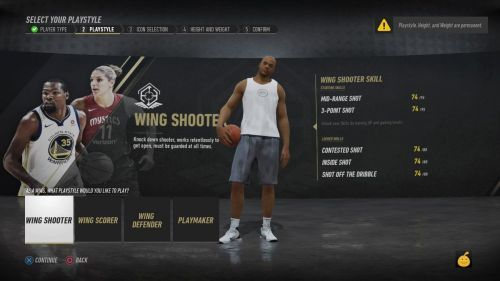 The ideal build for a wing shooter in NBA Live '19