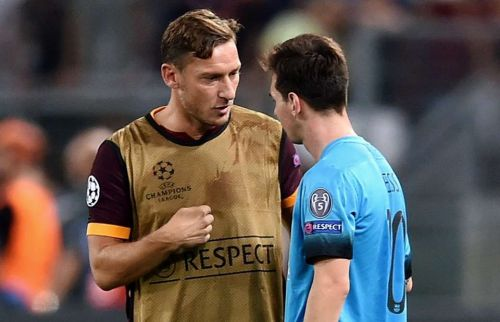 Two of the greatest players to have ever played in the false-nine roles. Francesco Totti and Lionel Messi thrived in the deep-lying forward role