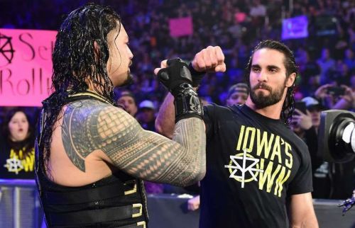 Image result for roman reigns seth rollins