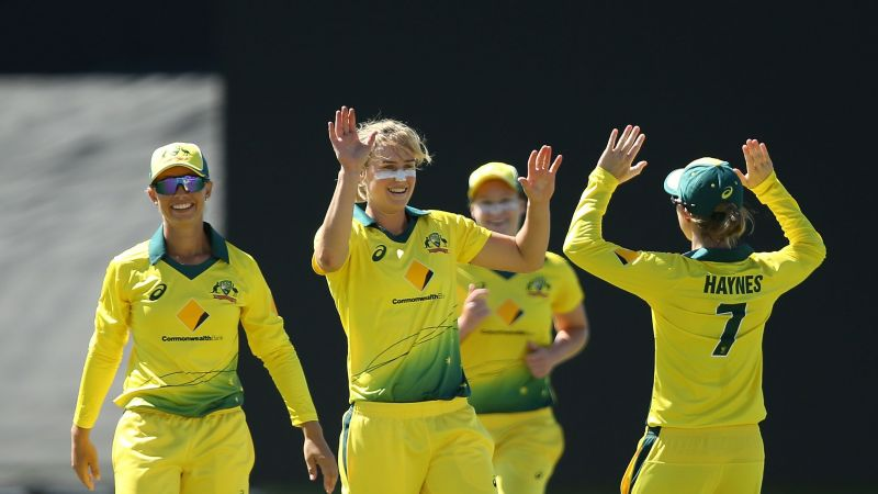 The player of the match in the 1st ODI, Jess Jonassen, bowled a great spell to bag four wickets.