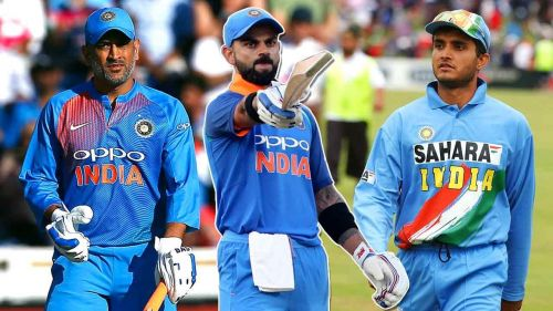 Dhoni And Virat And Ganguly