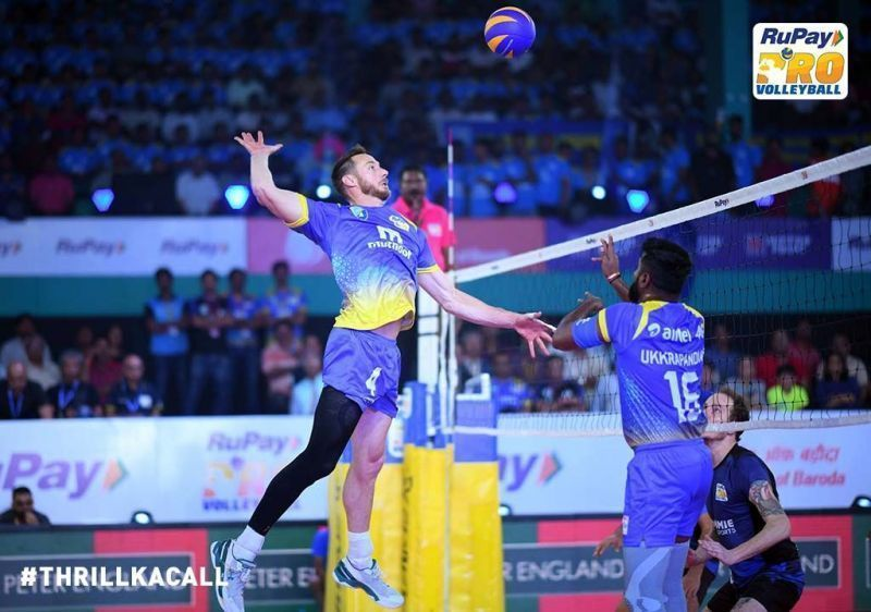 David Lee became a crowd favourite for the Kochi Blue Spikers