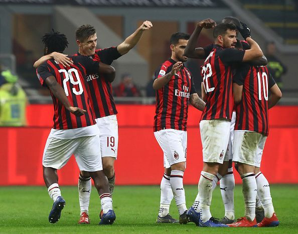 The Rossoneri is flying high in the league