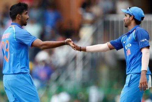 Jasprit Bumrah and Bhuvneshwar Kumar are among the key pacers for India
