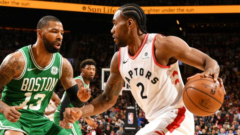 The Raptors registered an easy win over the Boston Celtics. Credit: CLNS