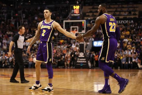 Lonzo Ball was one of the key players offered in a trade for AD.