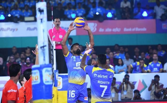 Mohan Ukkrapandian was at his best, setting spikes for his teammates