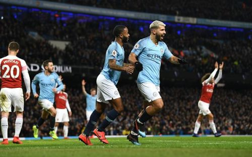 Sterling and Aguero, two of the Premier League's best players this decade.