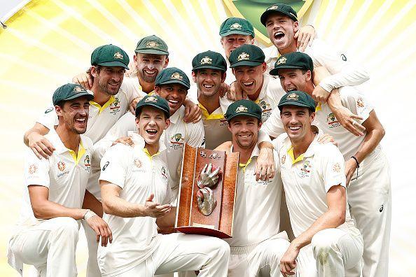 Australia won the test series