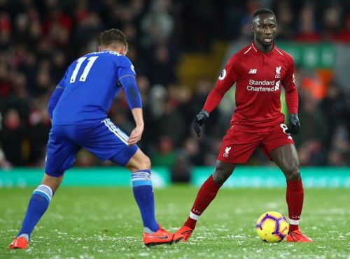 Keita in action during Liverpool's recent draw against Leicester in midweek