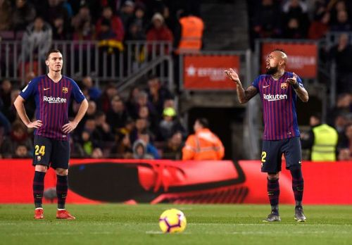 Vermaelen looked far from comfortable in the center-back spot