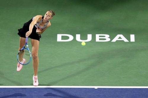 Karolina Pliskova at Dubai Duty Free Tennis Championships 2019 - Day Three