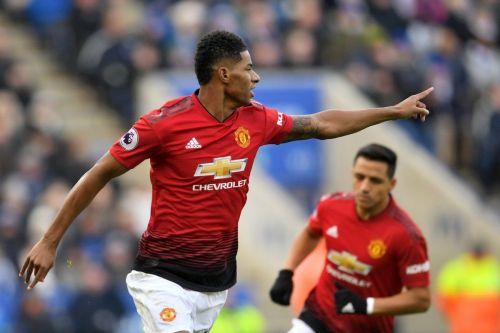 Rashford scored his 26th Premier League goal as Man United beat Leicester 1-0