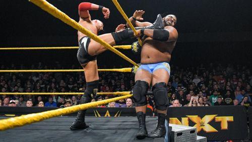 The two big men put up a stellar match last night