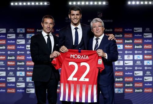 Club Atletico de Madrid unveil new signing Alvaro Morata