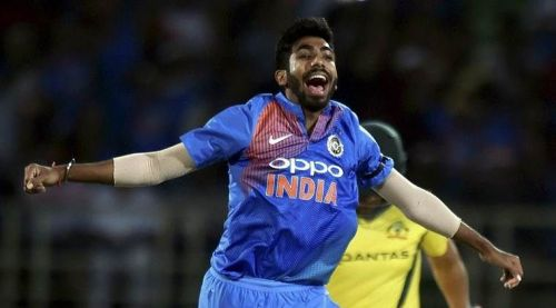 Shattered stumps, and the outstretched arms of Bumrah after a searing yorker are familiar sights today