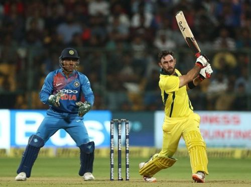 Maxwell played a crucial knock against India in the 2nd T20I