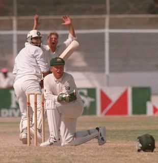 Ian Healy missed the stumping and conceded byes as Inzamam handed Pakistan a memorable win
