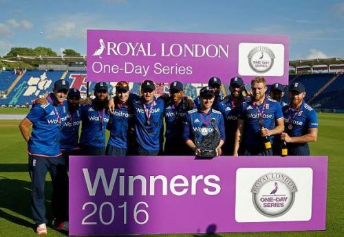 England is the number 1 One-Day International team in the world currently.