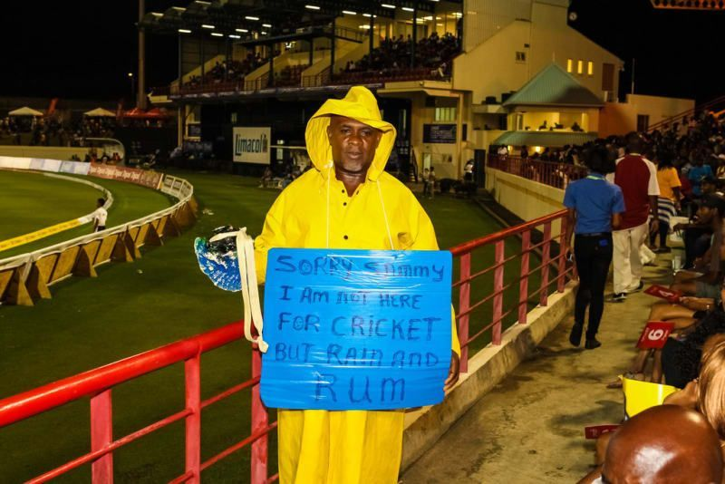 Not all fans come to the stadium to watch cricket, some come for rain and rum
