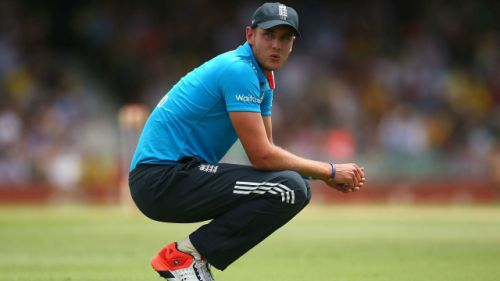 Image result for stuart broad bowling odi