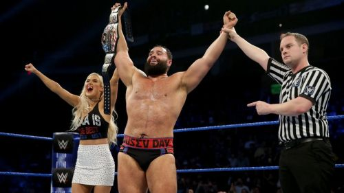 Rusev after winning the US Championship