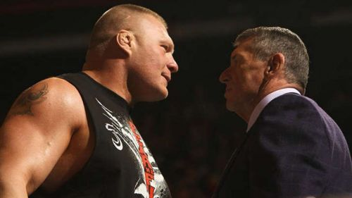 Image result for Vince McMahon Brock Lesnar