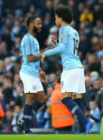 The duo of Raheem Sterling and Leroy Sane will cause Arsenal some problems on Sunday