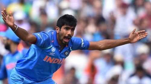 Bumrah appeals for a caught-behind at the 2017 Champions Trophy