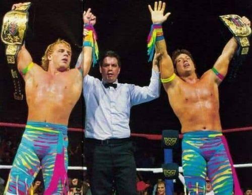 The Rocker's winning the WWF Tag Team Belts