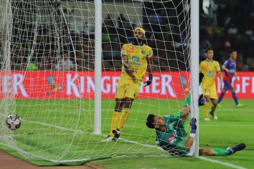Kerala Blasters concede an equaliser against Bengaluru FC in their Indian Super League (ISL) match (Image: ISL)