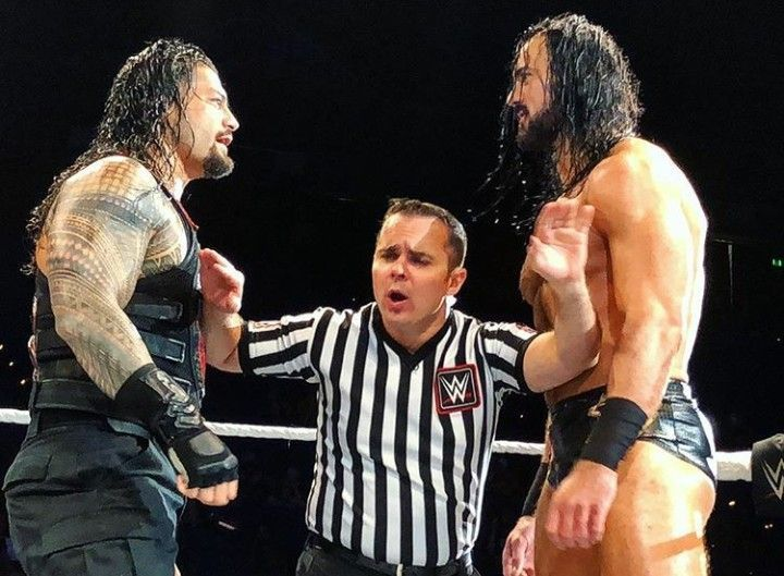 roman reigns and drew mecintyre