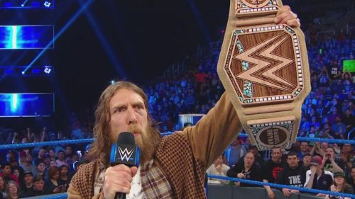 Daniel Bryan holding the Eco-friendly WWE Championship