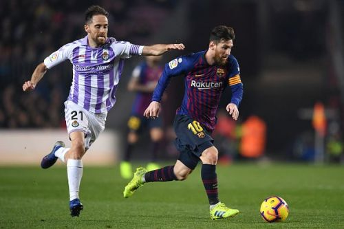 Messi and Dembele were not able to get past the defence