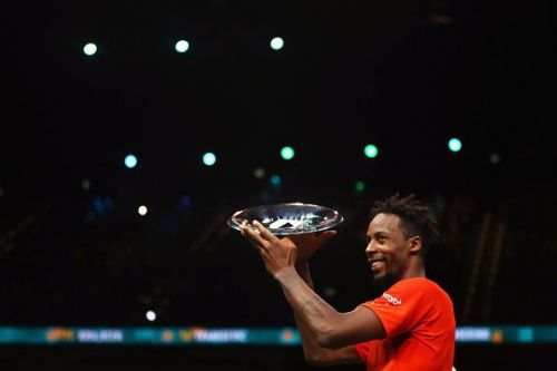 Gael Monfils lifted his 8th career singles title in Rotterdam