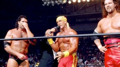 Hogan sided with Nash and Hall when they jumped ship to WCW