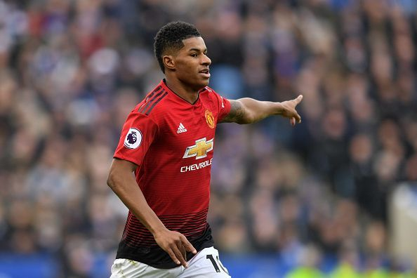 Marcus Rashford was unexpectedly thrown into Manchester United