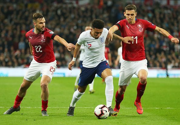 Sancho's skill and invention proved too much for the Czech backline to deal with