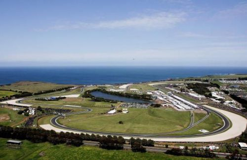 A bird's eye view of the iconic Phillip Island Circuit - one of the world's best racing tracks