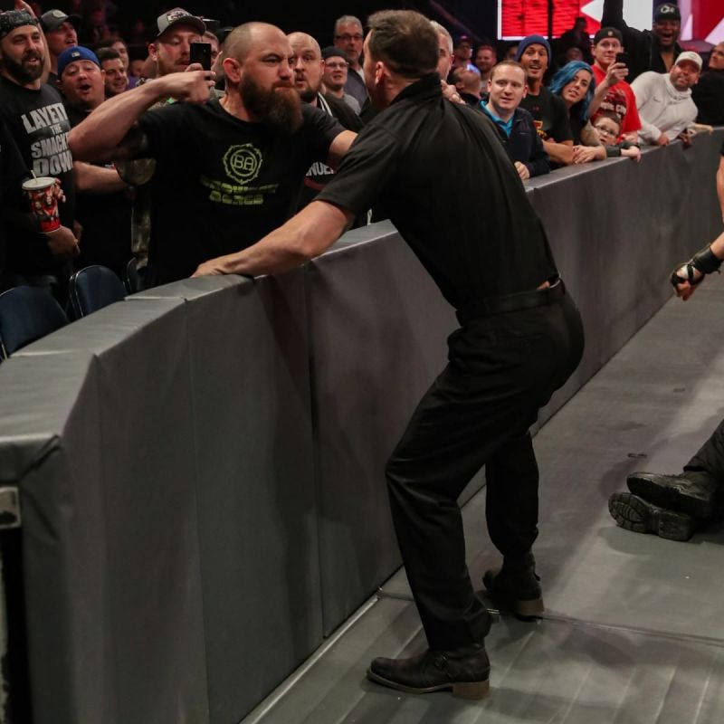 Travis knocked out security personnel on Raw