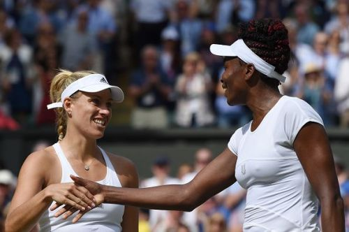 Venus Williams and Angelique Kerber at The Championships - Wimbledon 2016