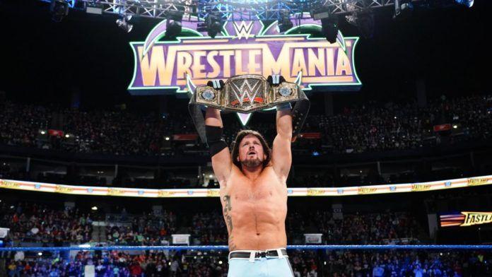 aj styles is on wrestlemania winning streak